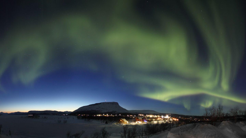 Northern Lights over Saana fell