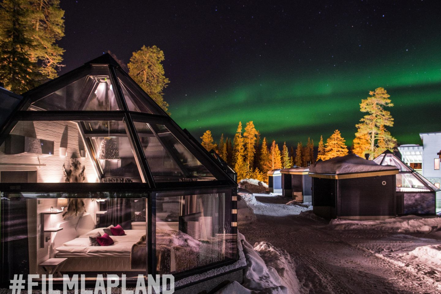 Aurora glass igloos in Lapland
