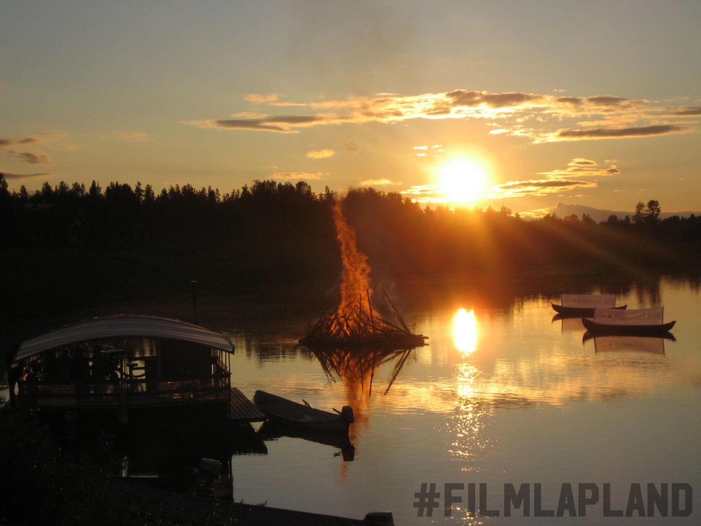 Midnight Sun in Levi in Lapland