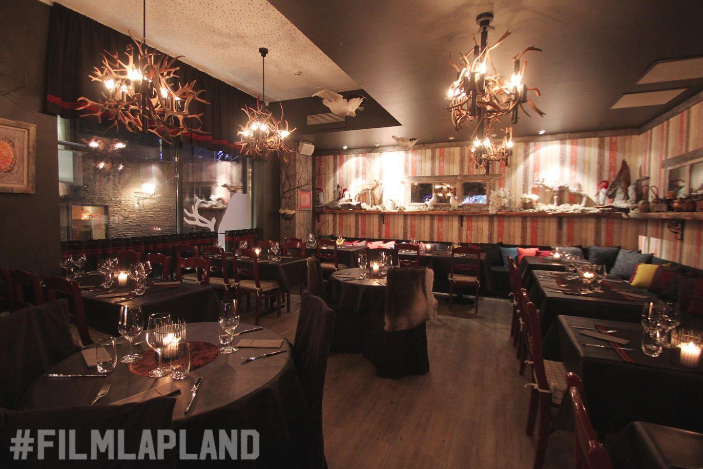 Inside restaurant Valkea Vaadin in Lapland