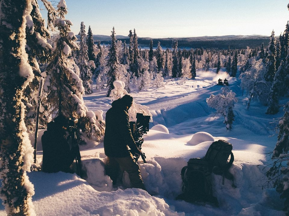 filming an Arctic snowscape | local film production services