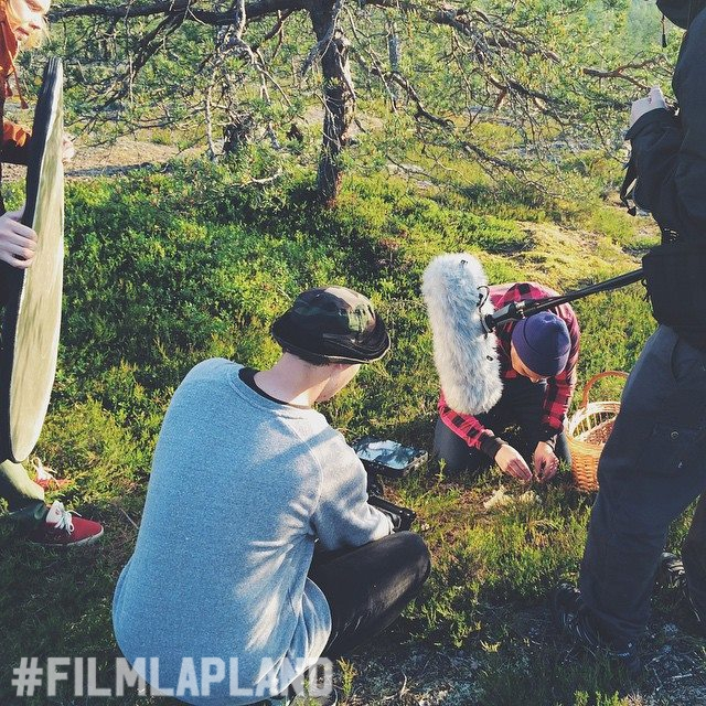 on location in lapland wilderness | local film production services