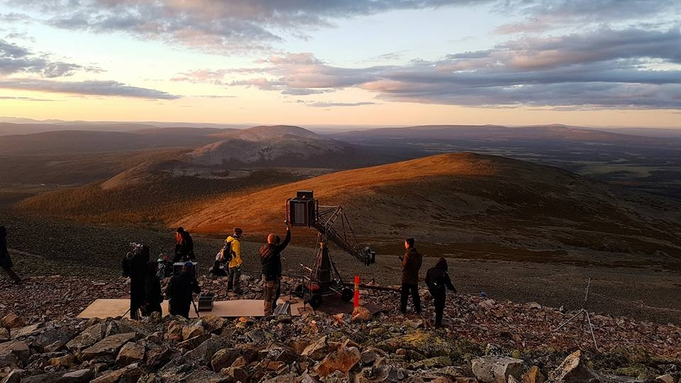 camera crew on a Lapland fell | production lapland odyssey