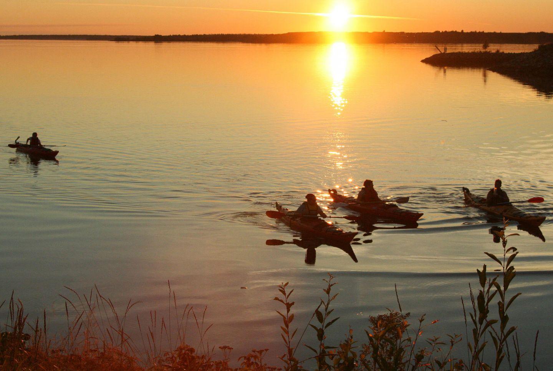 Kayaking in Kemi, Lapland under the Midnight Sun