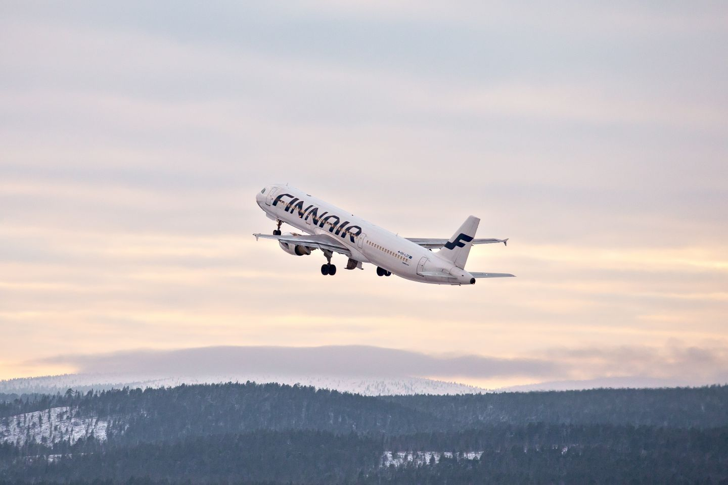 Flying to Lapland