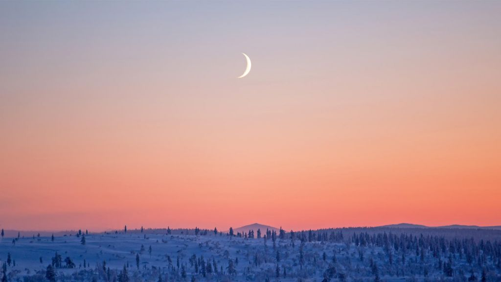 moon in Lapland