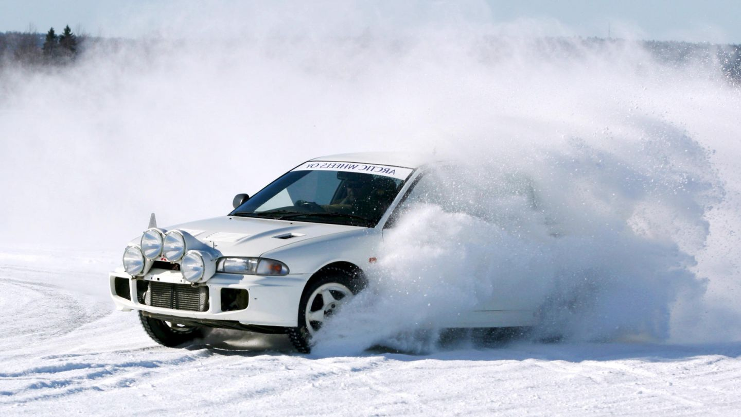 snow rally in Lapland