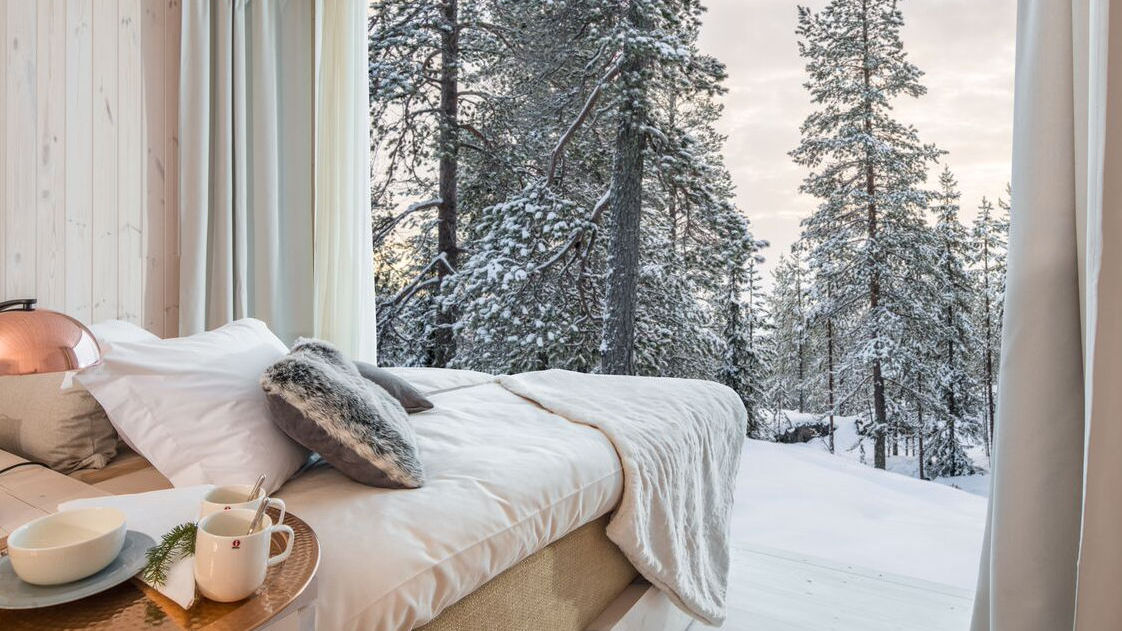 Arctic Treehouse Hotel is a romantic and stylish hotel right at the Arctic Circle