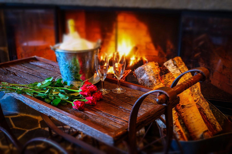 Romantic atmosphere in Lapland