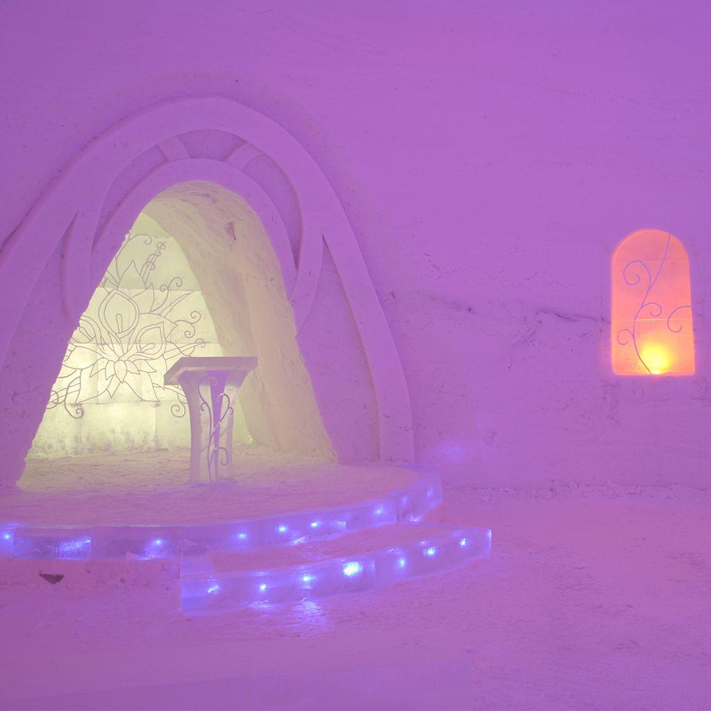 The chapel at Lainio SnowVillage