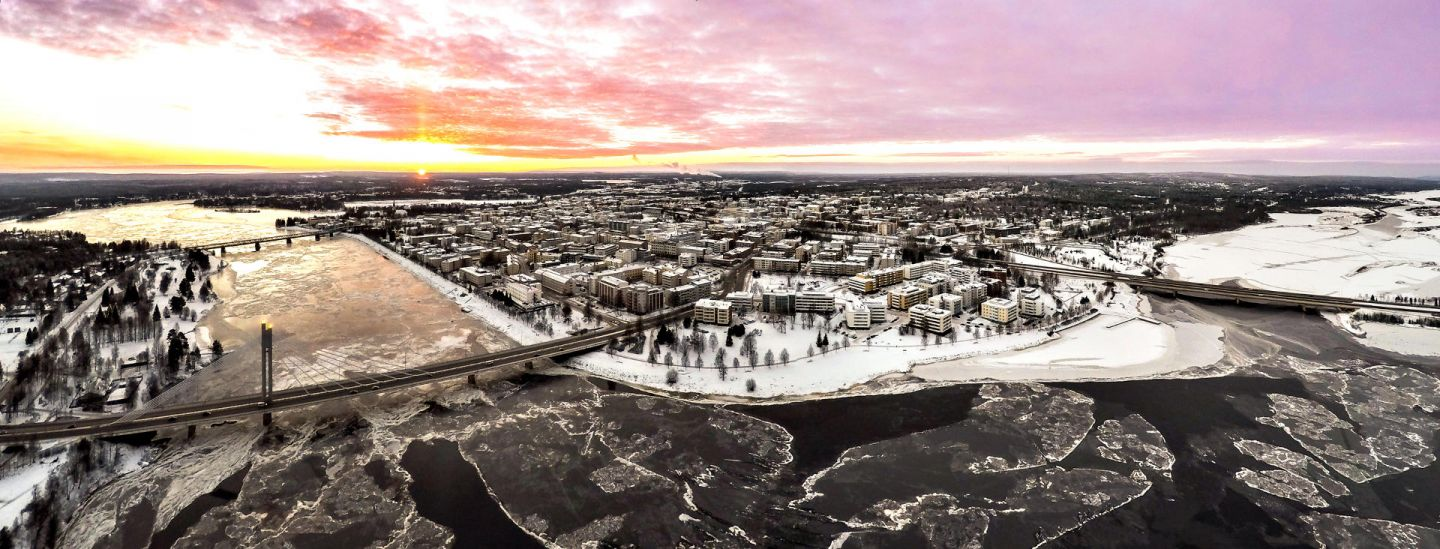 Rovaniemi city during the spring