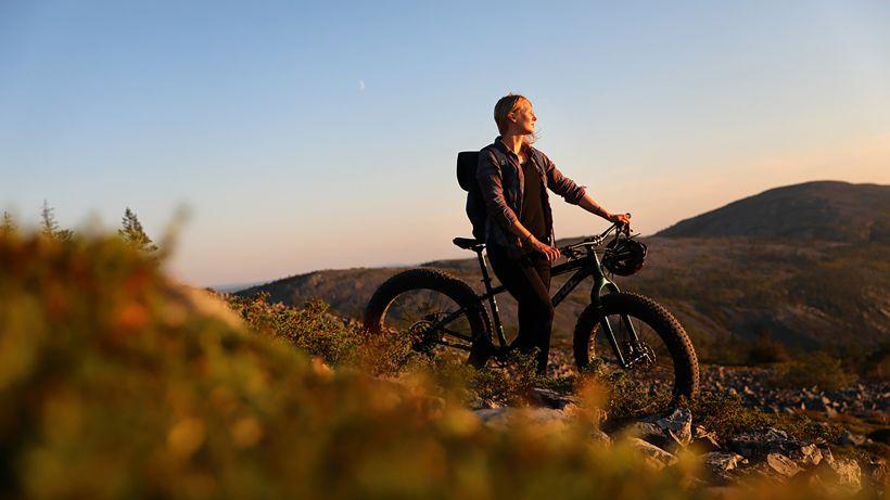Maastopyöräilyä Pyhätunturilla