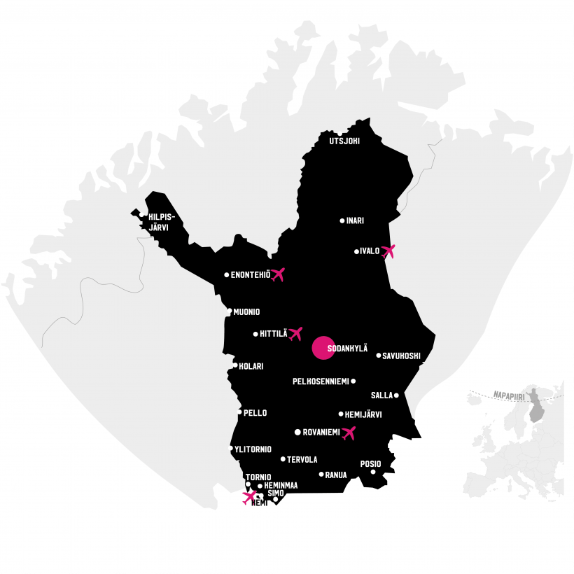 Sodankylä kartalla