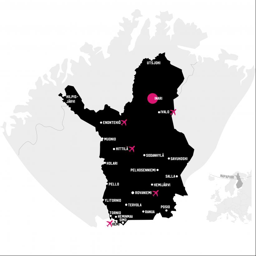 Inari Lapin kartalla