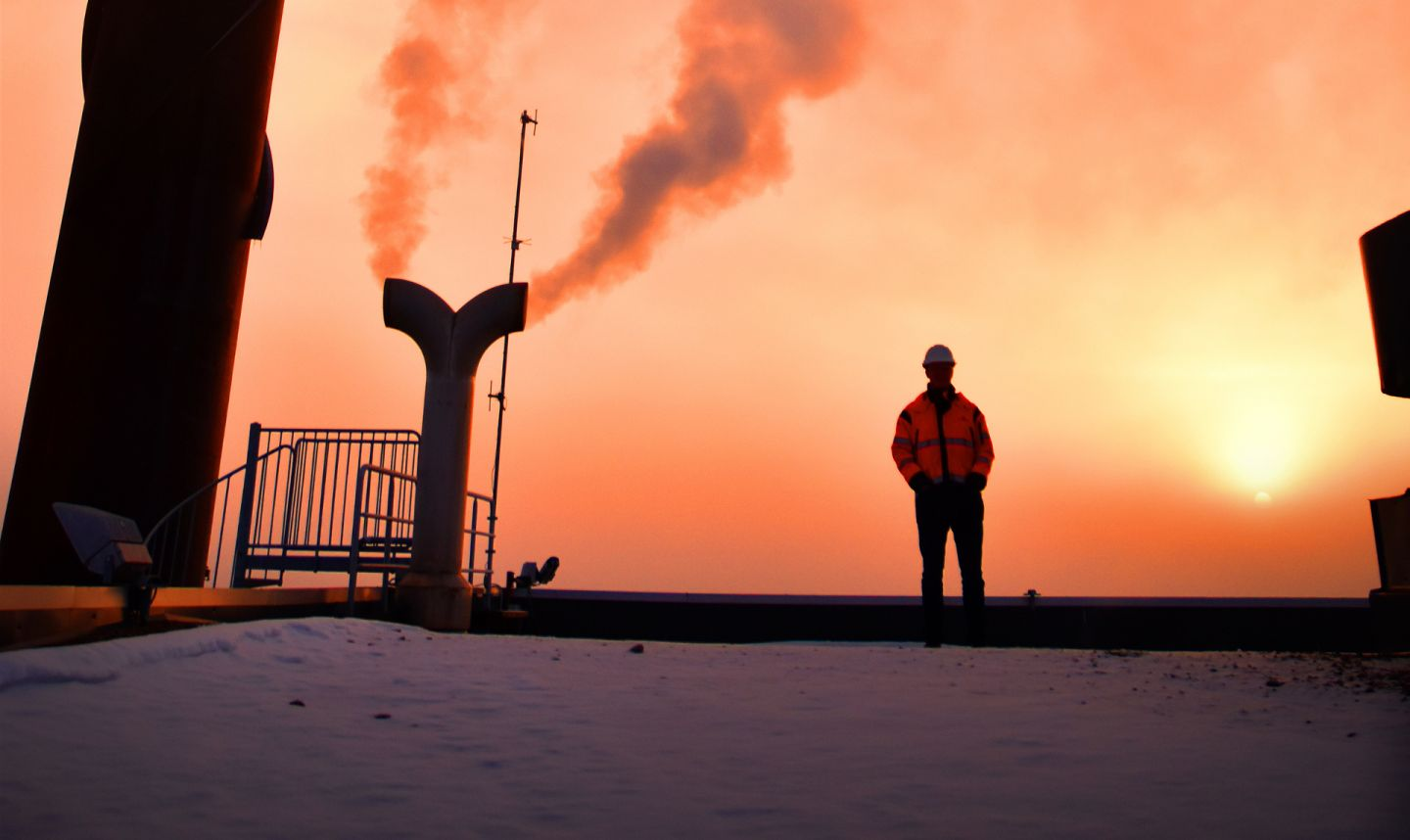 Industrial picture in sunset in Lapland | Neve