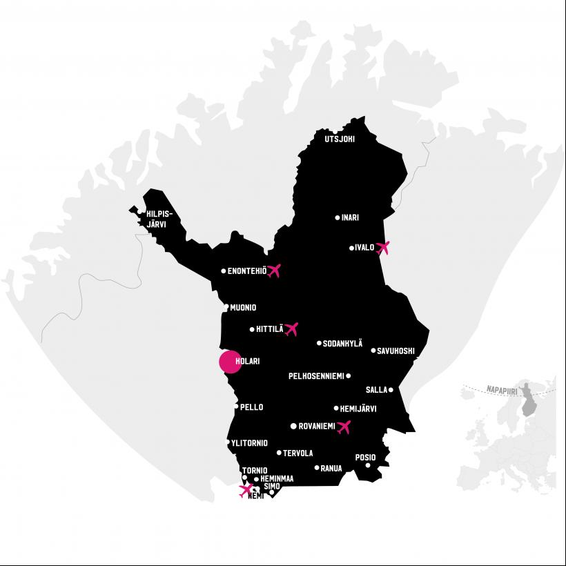 Kolari kartalla