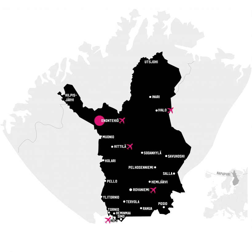 Enotekiö kartalla