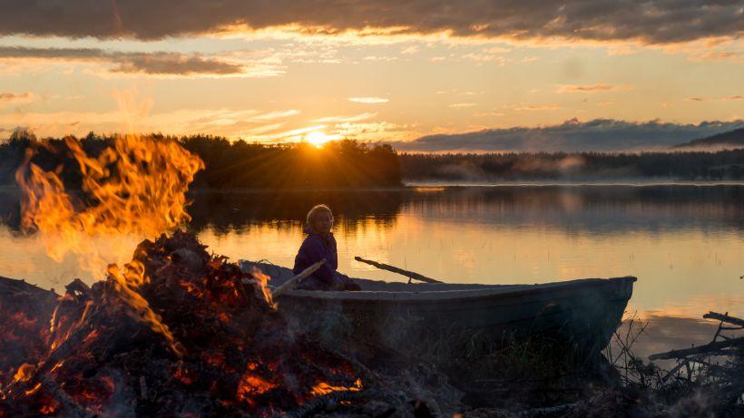 Bonfire in Lapland