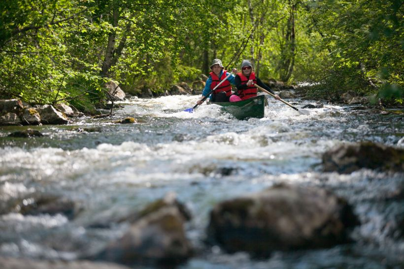 Whitewater rafting is an enjoyable hobby in Lapland