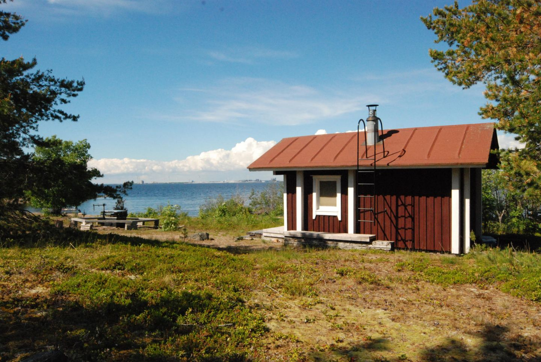 Sauna on the beach in Lapland