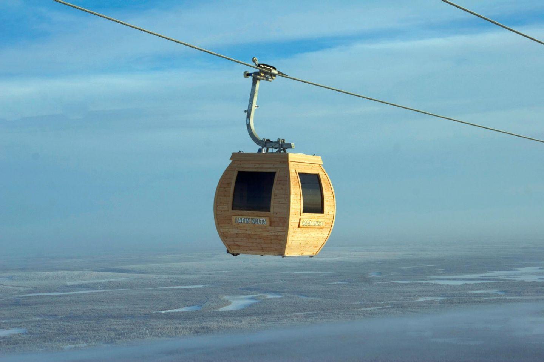 Sauna gondola in Lapland