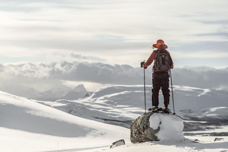 Snowshoeing in Kilpisjärvi, northern Finland