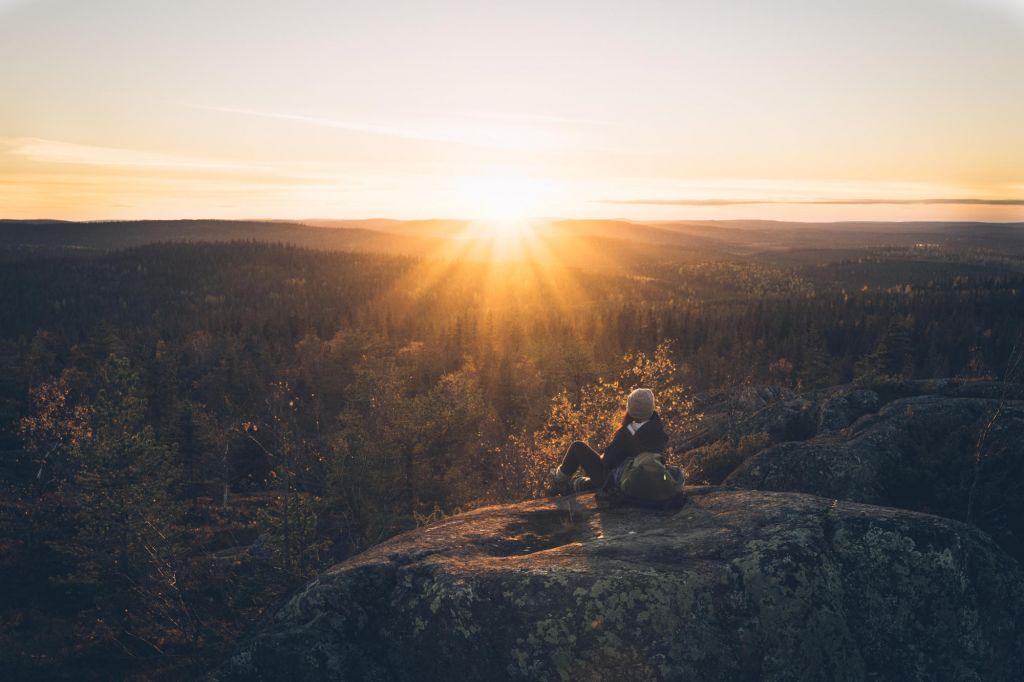 sunrise over Lapland