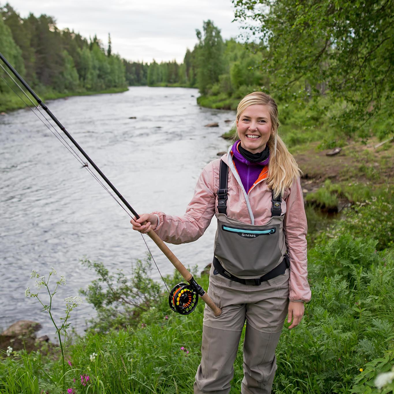Emilie Björkman, fisherman from Finland
