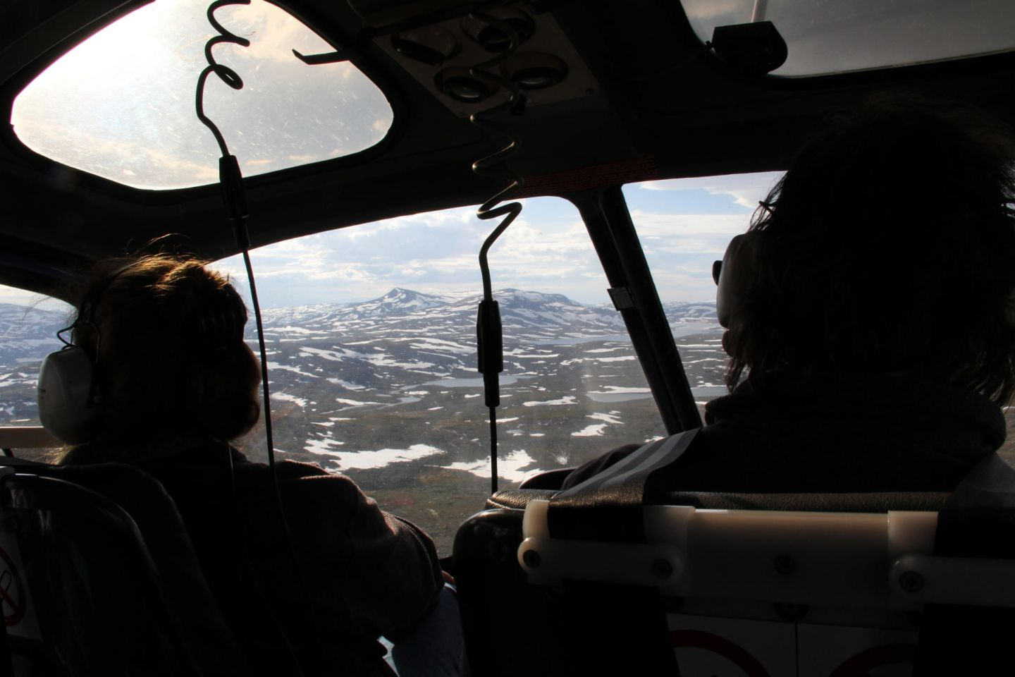 From the cockpit, flying over Lapland