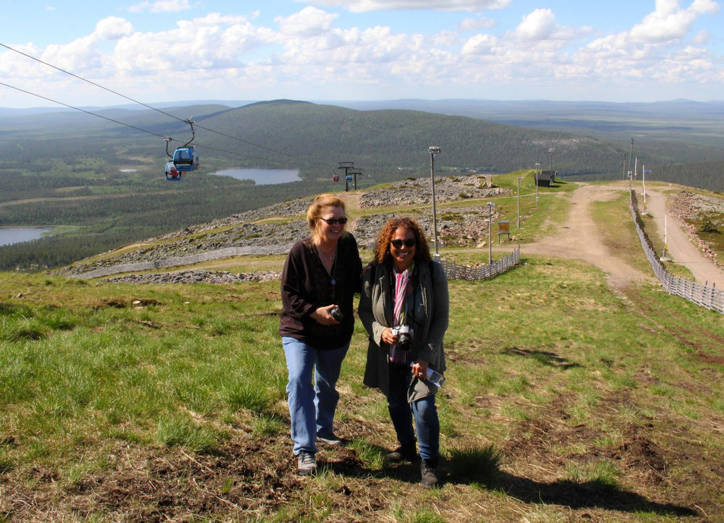 Location scouts Lori Balton and Alison Taylor on Fam trip to Finnish Lapland