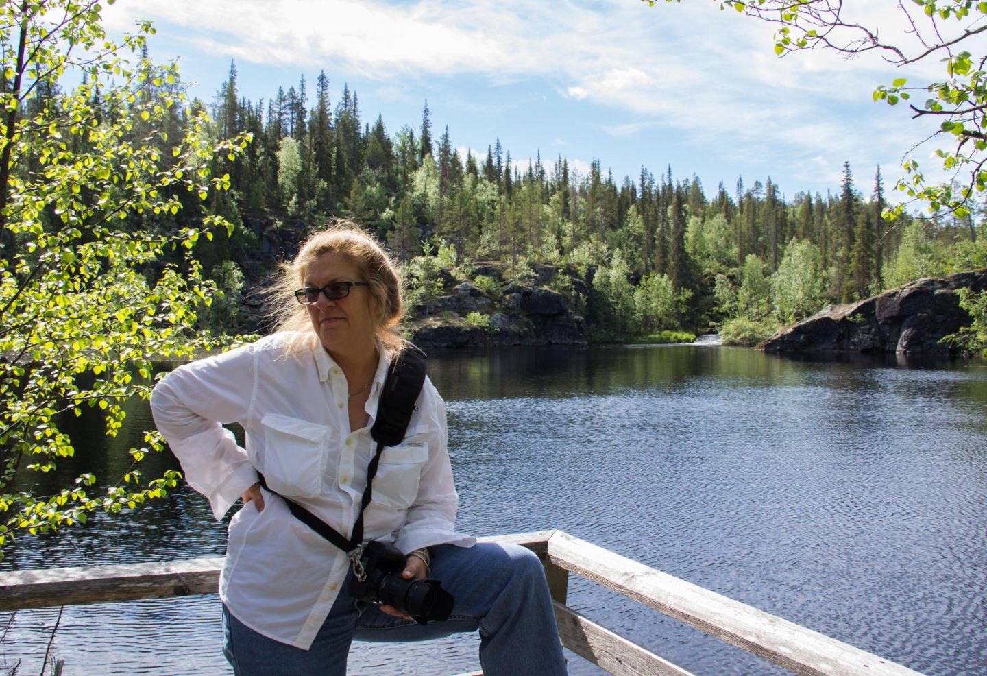 Location scout Lori Balton in Lapland