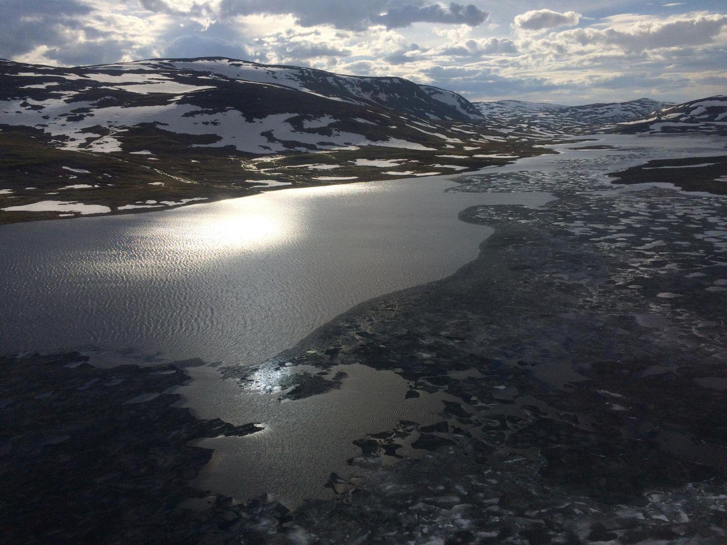 Lake Kilpisjärvi in Enontekiö by air
