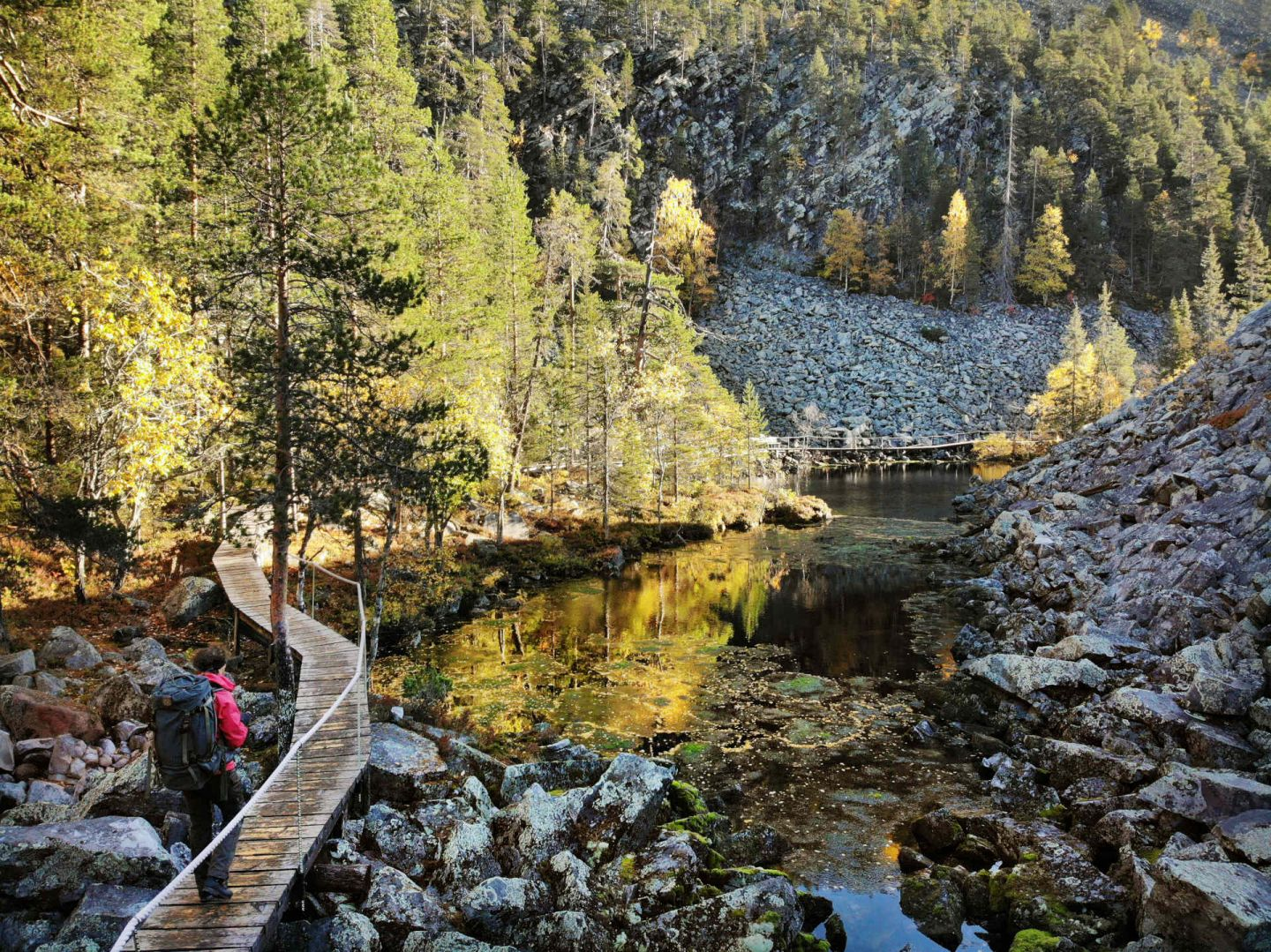 On our way to the Holy Baptism Lake in Pyhä, Finland