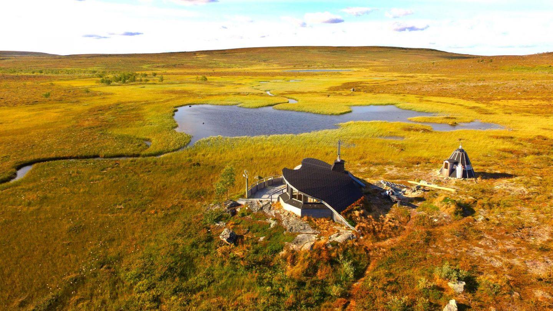 aerial Lapland landscape