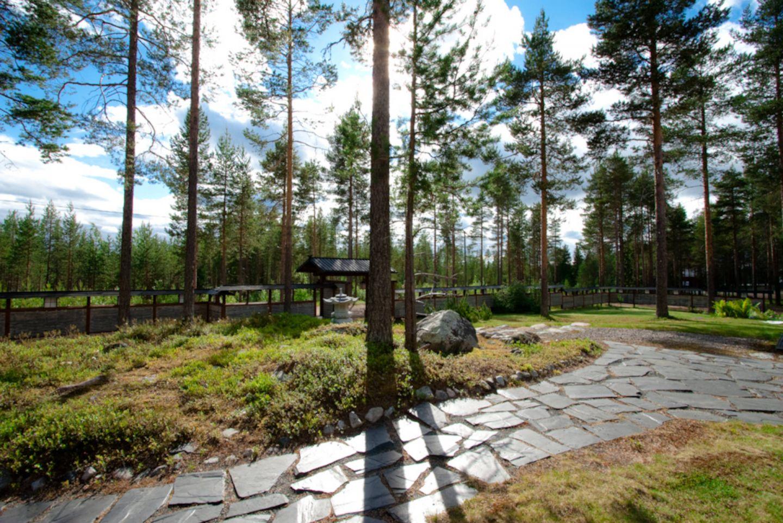 Japanese garden at Japanitalo in Ranua, Finland