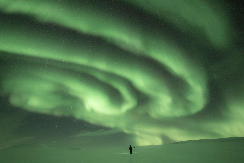 Northern lights in Kilpisjärvi, Enontekiö, Lapland, Finland