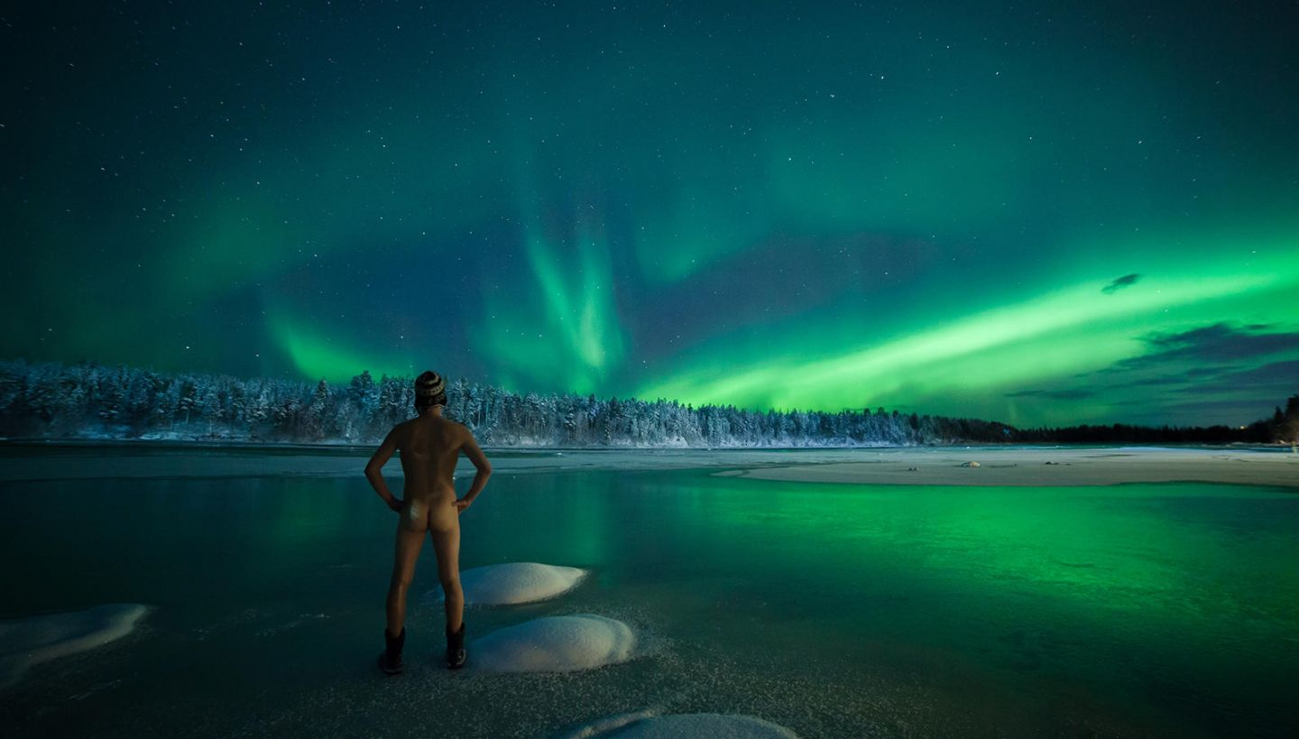 auroras & skinny dipping in Lapland