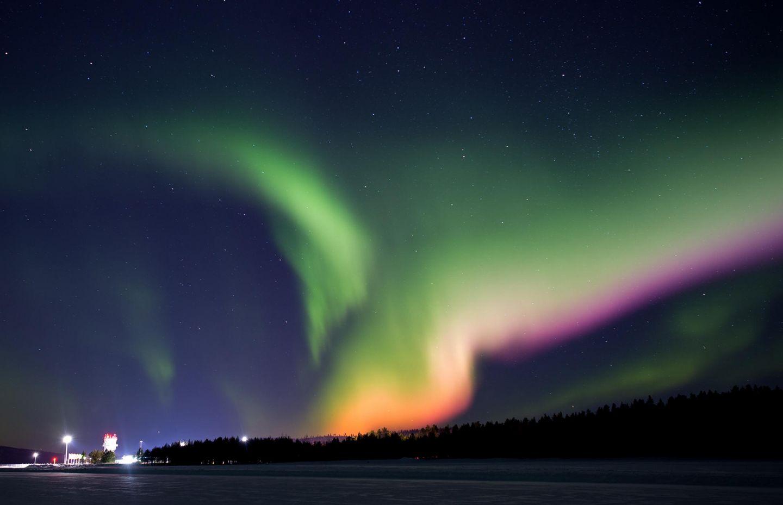 auroras in Lapland