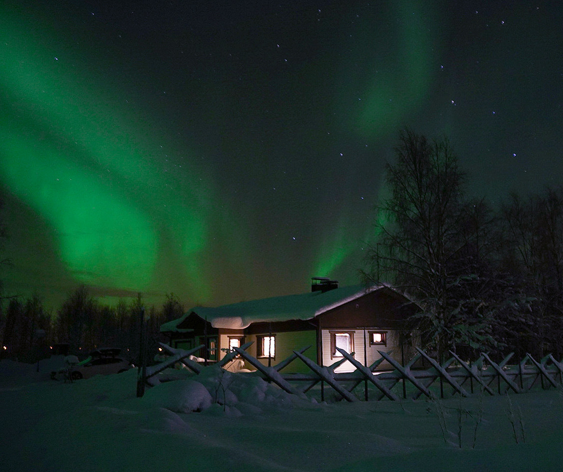 Northern Lights over Finnish Lapland