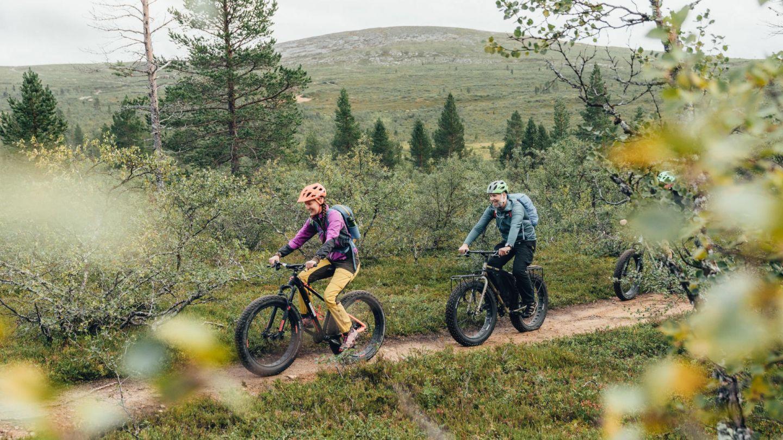 Biking in Inari, Finland