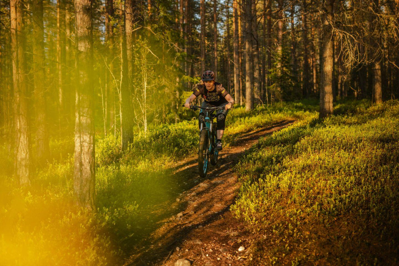 Biking with Lapland Safaris