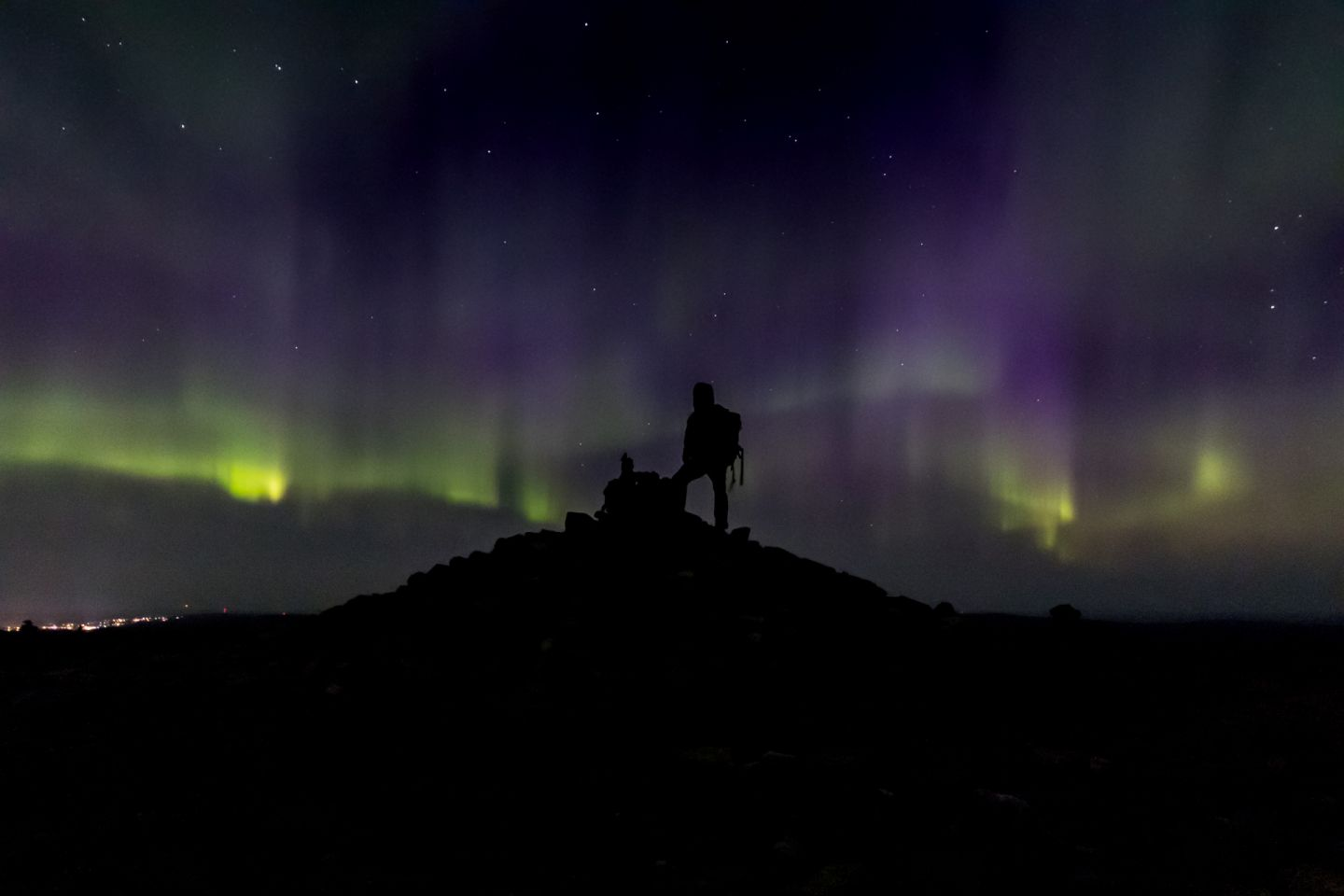 The Northern Lights over UKK National Park in Finnish Lapland