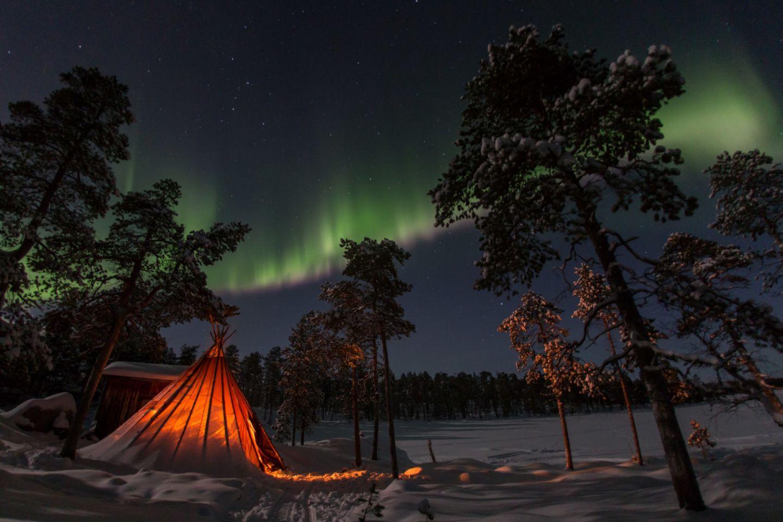 Northern Lights over Inari-Saariselkä, Finland