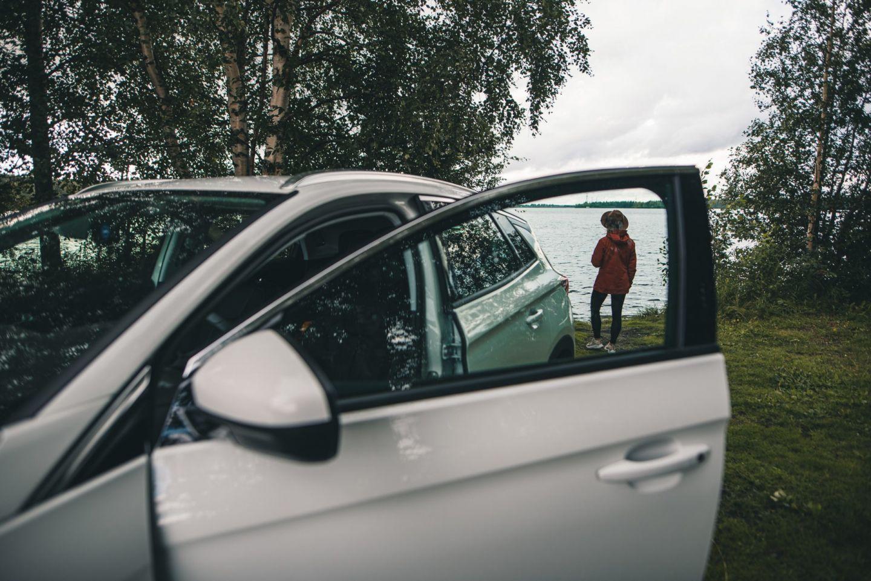 A little break from the road in Rovaniemi, Finland