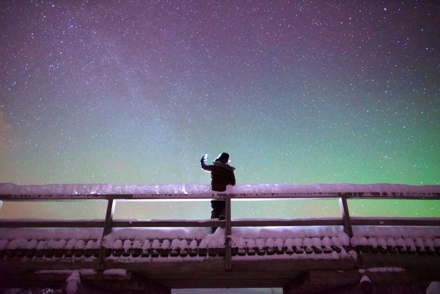 Photographing the Northern Lights with a phone in Finnish Lapland