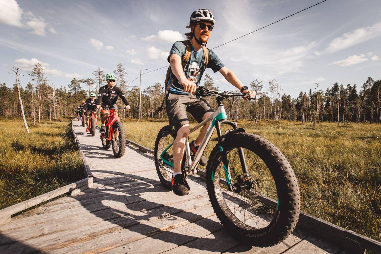Biking in Rovaniemi, Finland
