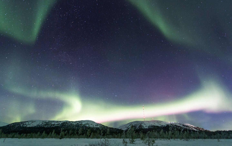 Northern Lights over Pyhä-Luosto, Finland