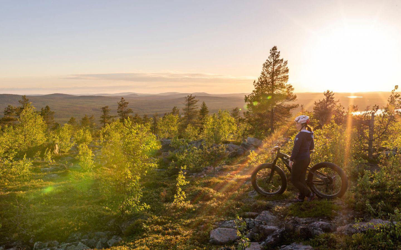 Biking in Salla, Finland
