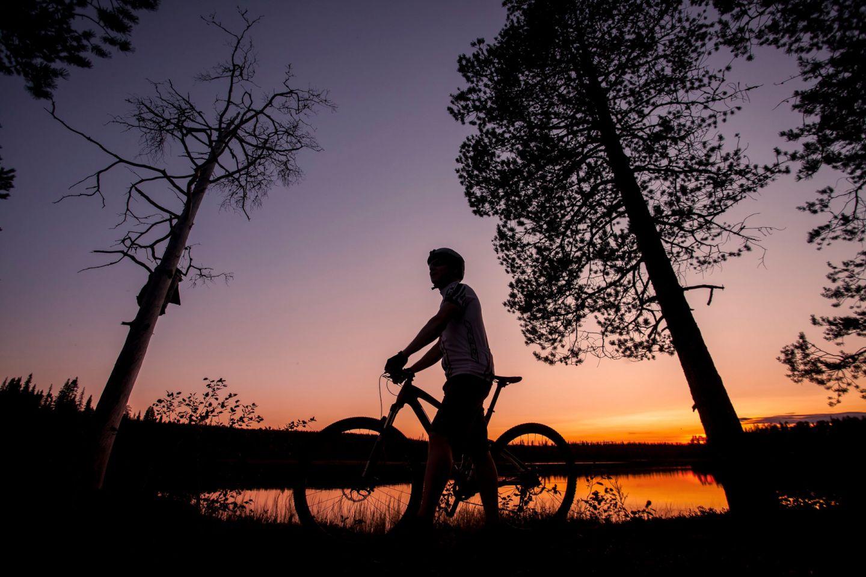 Biking in Savukoski, Finland
