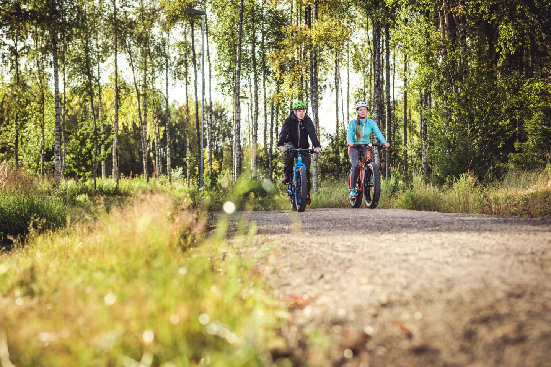Biking in Sodankylä, Finland